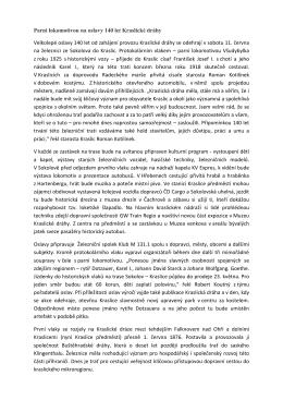 Parní lokomotivou na oslavy 140 let Kraslické dráhy Velkolepé