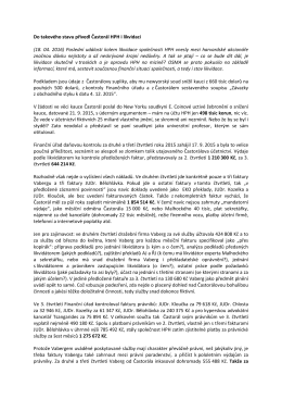 Do takového stavu přivedl Častorál HPH i likvidaci (18. 04. 2016