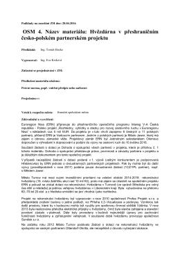 OSM 4. Název materiálu: Hvězdárna v přeshraničním česko