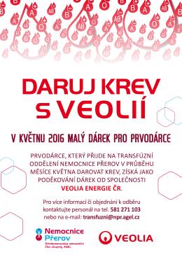 v květnu 2016 malý dárek pro prvodárce - Nemocnice Přerov