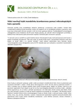 BIOLOGICKÉ CENTRUM AV ČR, vvi