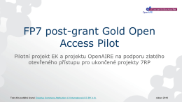 FP7 post-grant publishing funds pilot