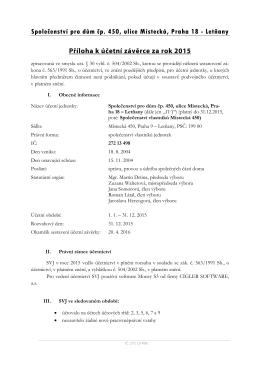 Příloha k závěrce - Společenství vlastníků Místecká 450