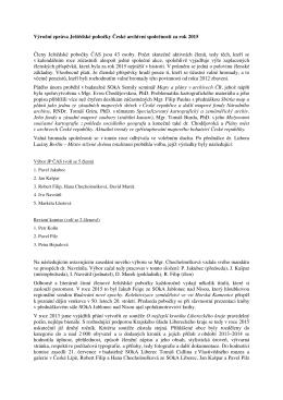 Zpráva o činnosti Ještědské pobočky za rok 2015