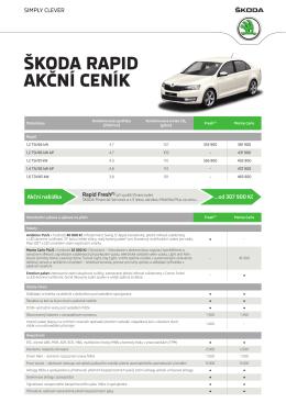 Akční ceník - Škoda Auto