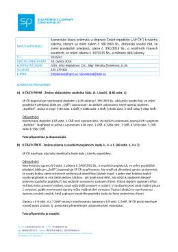 """(""""SP ČR"""") k návrhu zákona, kterým se mění zákon č. 99/1963 Sb"""