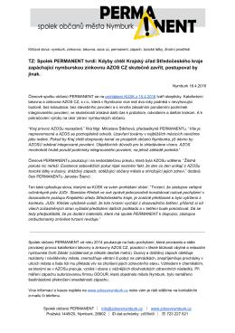 oficiální tiskovou zprávu PERMANENTu k prohlášení KÚSK