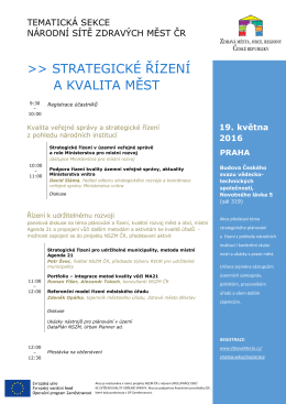 strategické řízení a kvalita měst