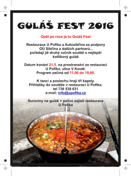 guláš fest 2016