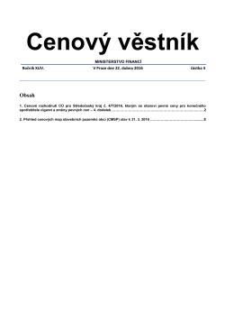 Cenový věstník 04/2016 PDF