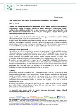 OSSZ udělily téměř 800 postihů za nedodržování režimu na tzv