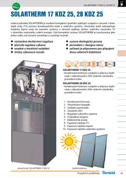 solartherm 17 kdz 25, 28 kdz 25