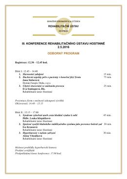 Program 2016 - Domácí hospic Duha, ops