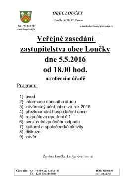 Pozvánka na veřejné