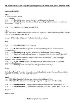 Program, přednášky