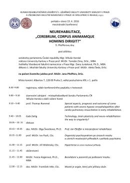 program - Klinika rehabilitačního lékařství