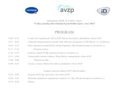 program - Asociace výdejců a prodejců zdravotnických prostředků
