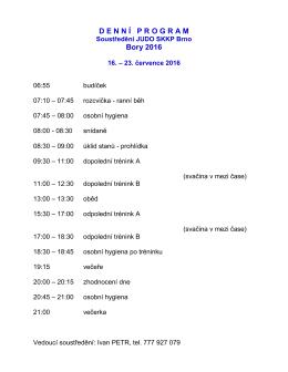 Bory 2016_Denni program