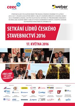 setkání lídrů českého stavebnictví 2016