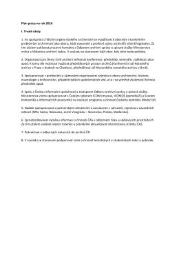 Příloha č. 13 – Plán práce ČAS na rok 2016