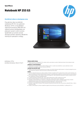 Notebook HP 255 G5