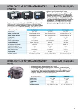 Autotransformátor HSN 260_10