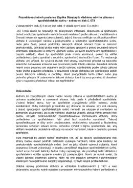 Pozměňovací návrh poslance Zbyňka Stanjury k vládnímu návrhu