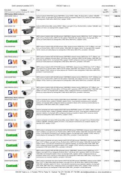 Ceník v XLS - ESCAD Trade