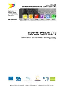 ZÁKLADY PROGRAMOVÁNÍ V C++