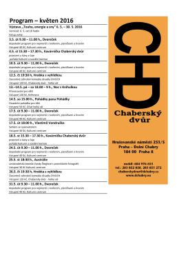 program KVĚTEN 2016