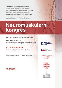 Program - Sekce neuromuskulárních chorob České neurologické