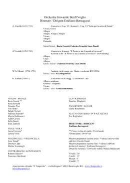 Orchestra Giovanile BenTiVoglio Direttore / Dirigent Emiliano