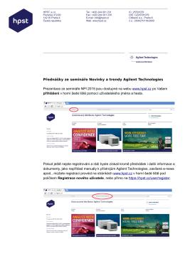 Přednášky ze semináře Novinky a trendy Agilent