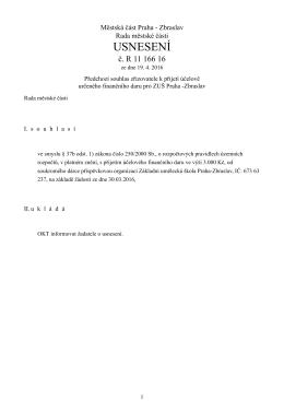 usnesení - Zbraslav