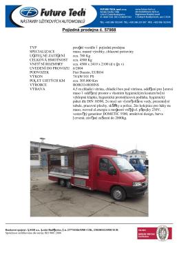 Pojízdná prodejna č. 57988 - Future