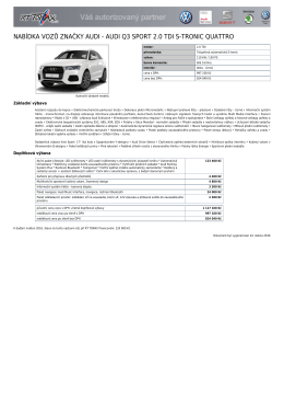 Audi Q3 SPORT 2.0 TDI S-tronic Quattro