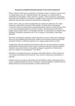 Příloha č. 14 – Programové prohlášení Brněnské pobočky ČAS