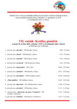 VII. ročník Kytička písniček