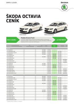 Ceník - Škoda Auto