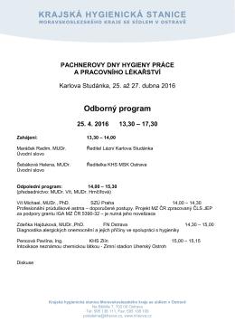 program - Krajská hygienická stanice Moravskoslezského kraje