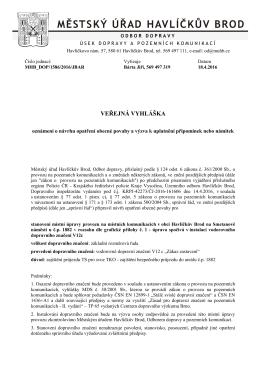 Oznámení o návrhu opatření obecné povahy a