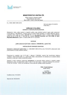 REDJEPI Nuriamet - Ministerstvo vnitra České republiky