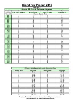 GP 2016 Timetable
