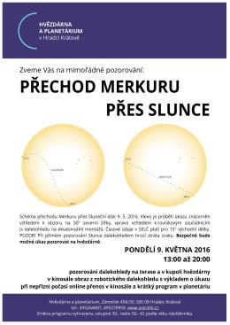 mimořádné pozorování - Hvězdárna a planetárium v Hradci Králové