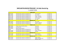 IMPLANTOLOGICKÁ ŠKOLENÍ - Dr.Ihde Dental Ag