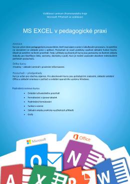 MS EXCEL v pedagogické praxi