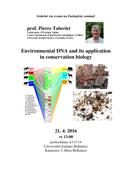 Pierre Taberlet: Environmental DNA and its application in