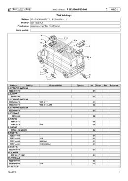Kód obrazu: F 2E 55402/00-001 Č. Tisk katalogu