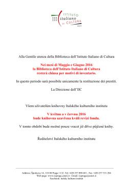 zde - Istituto Di Cultura