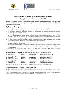 sprawozdanie - Komisja Modelarska